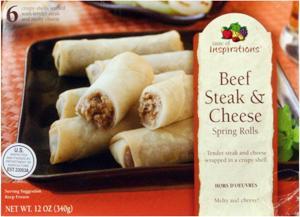Taste Of Inspirations Beef Steak & Cheese Spring Rolls