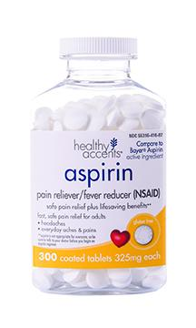 Healthy Accents Aspirin Tablets 325 Mg
