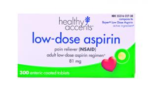 Healthy Accents Low Dose Aspirin 81 Mg