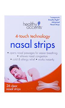 Healthy Accents Nasal Strips Clear