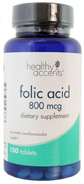 Healthy Accents Folic Acid 800 Mcg Tablets