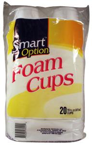 Smart Option 16 Oz. Foam Cups