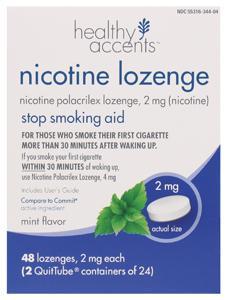 Healthy Accents Nicotene 2mg Mint Lozenges