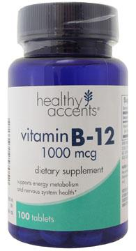 Healthy Accents Vitamin B-12 1000 mcg Tablets