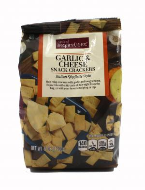 Taste of Inspirations Garlic & Cheese Snack Crackers