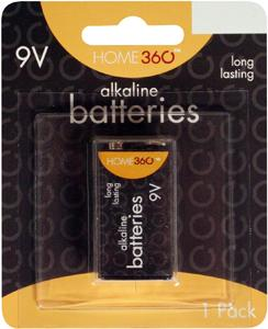 Home 360 9-volt Alkaline Battery