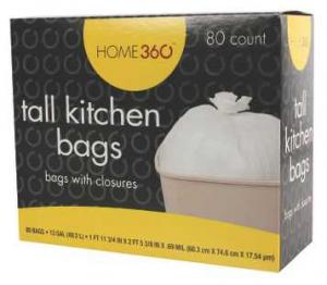 Home 360 Tall Kitchen Trash Bags