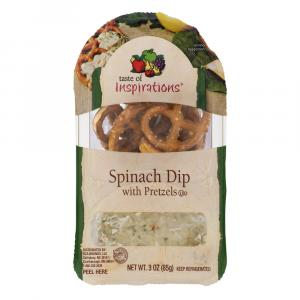 Taste of Inspirations Spinach Dip with Pretzels