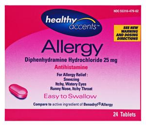 Healthy Accents Diphedryl Tablets