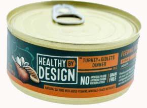 Healthy By Design Turkey + Salmon Dinner Pate Cat Food