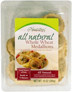 Nature's Place Whole Wheat Portabella & Cheese Medallions