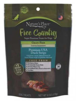 Nature's Place Free Country Roasted Duck Jerky Dog Treats