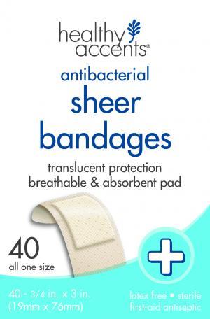 "Healthy Accents Sheer 3/4"" Bandages"