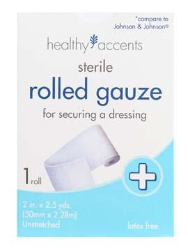 Healthy Accents Rolled Gauze
