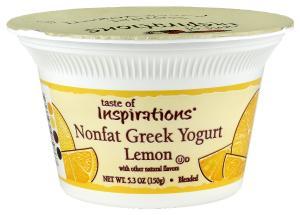 Taste Of Inspirations Nonfat Greek Lemon Yogurt
