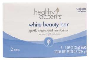 Healthy Accents White Beauty Bar Soap
