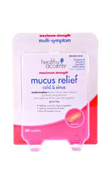 Healthy Accents Mucus Relief Cold & Sinus Fast Acting