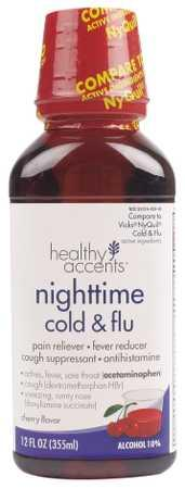 Healthy Accents Nighttime Cold & Flu Cherry Flavor
