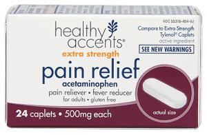Healthy Accents Extra Strength Pain Relief Acetaminophen