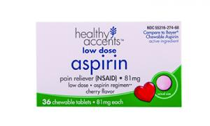 Healthy Accents Children's Cherry Chewable Aspirin
