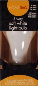 Home 360 50/150 Watt 3-way Light Bulb
