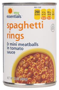 My Essentials Spaghetti O Rings With Meatballs