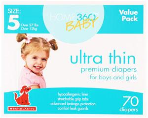 Home 360 Baby Ultra Thin Size 5 Diapers