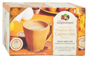 Taste Of Inspiration Pumpkin Spice Cappuccino Single Serve