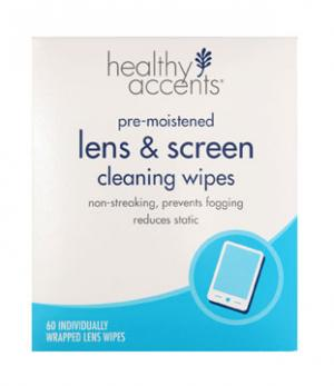 Healthy Accents Lens & Screen Moist Wipes