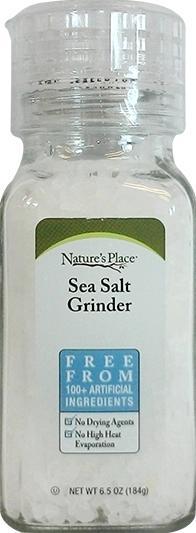 Nature's Place Natural Sea Salt Grinder