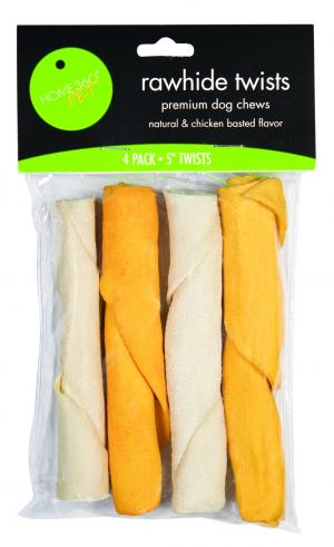 Home 360 Pet Natural Basted Rawhide Twists