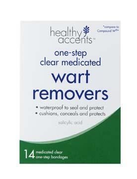 Healthy Accents One-step Clear Medicated Wart Removers