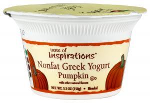 Taste Of Inspirations Nonfat Greek Pumpkin Yogurt