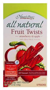 Nature's Place Strawberry & Apple Fruit Twists
