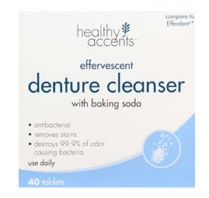 Healthy Accents Denture Cleaner Tablets