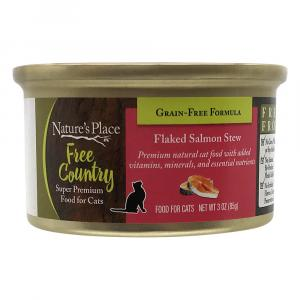 Nature's Place Free Country Flaked Salmon Stew Cat Food