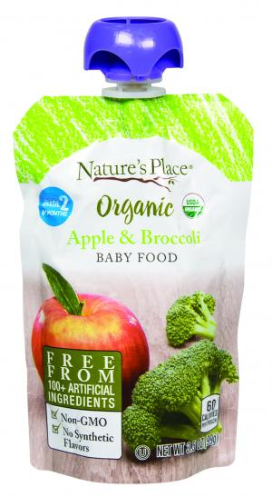 Nature's Place Organic Apple & Broccoli Baby Food