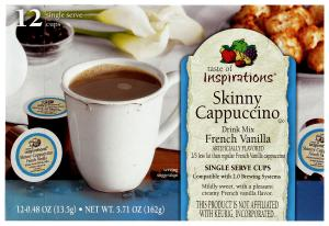 Taste Of Inspirations Skinny French Vanilla Cappuccino Cups