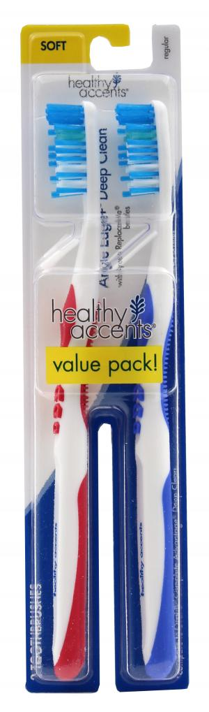 Healthy Accents Angled Edge Deep Clean Soft Toothbrush