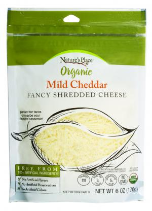 Nature's Place Organic Mild Cheddar Shredded Cheese
