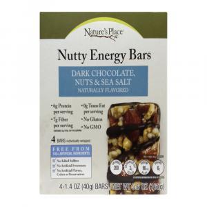 Nature's Place Dark Chocolate Nuts & Sea SaltEnergy Bar