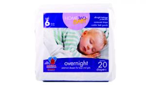 Home 360 Baby Overnight Size 6 Jumbo Diapers