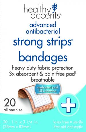 Healthy Accents Strong Strip Bandages