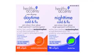 Healthy Accents Daytime and Nighttime Cold and Flu Softgels