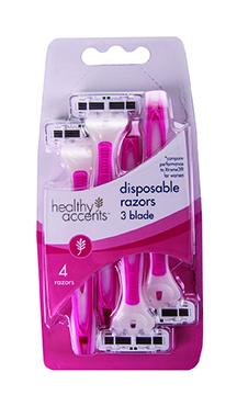 Healthy Accents 3-Blade Disposable Razor for Women