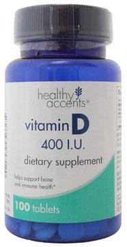 Healthy Accents Vitamin D 400 I.u. Tablets