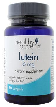 Healthy Accents Lutein 6 Mg Softgels