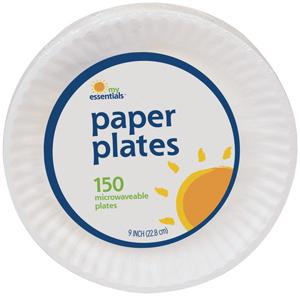 "My Essentials 9"" Uncoated Paper Plates"