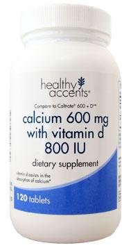Healthy Accents Calcium w/Vitamin D 600 mg
