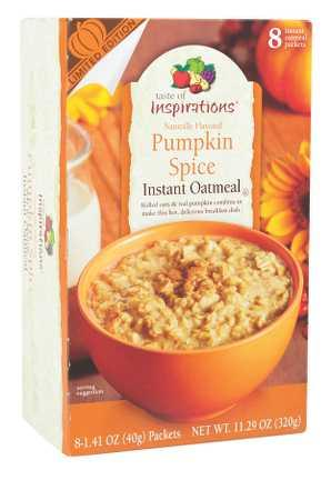 Taste of Inspirations Pumpkin Spice Instant Oatmeal